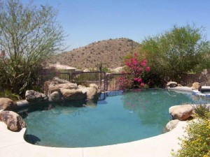 View from the pool in Scottsdale Mountain