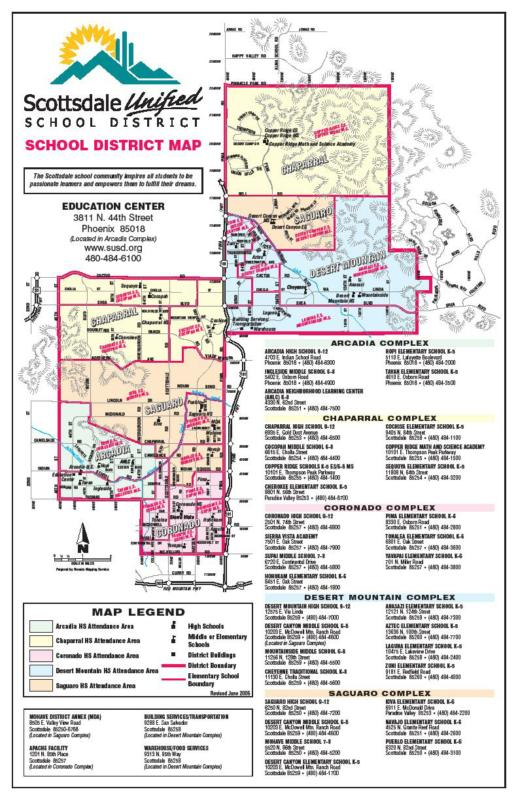 Scottsdale Unified School District Boundary Map