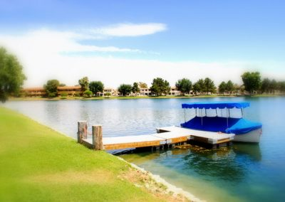 Private Boat Dock on the Island at McCormick Ranch