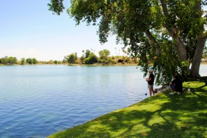 Fishing on Lake Margherite in McCormick Ranch