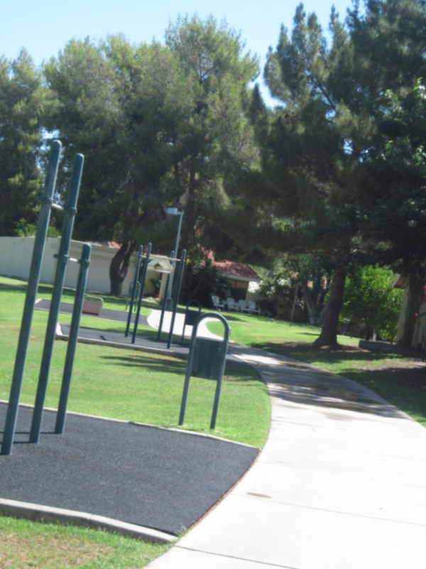 Fitness Stations in Comanche Park