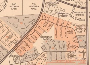 Map of Paseo Village in McCormick Ranch