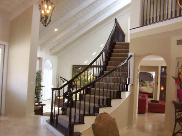 Custom Stairway in Vista Del Lago Home
