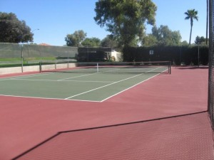 Community tennis courts at Heritage Village