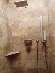 Master shower at 8210 E. Del Claro