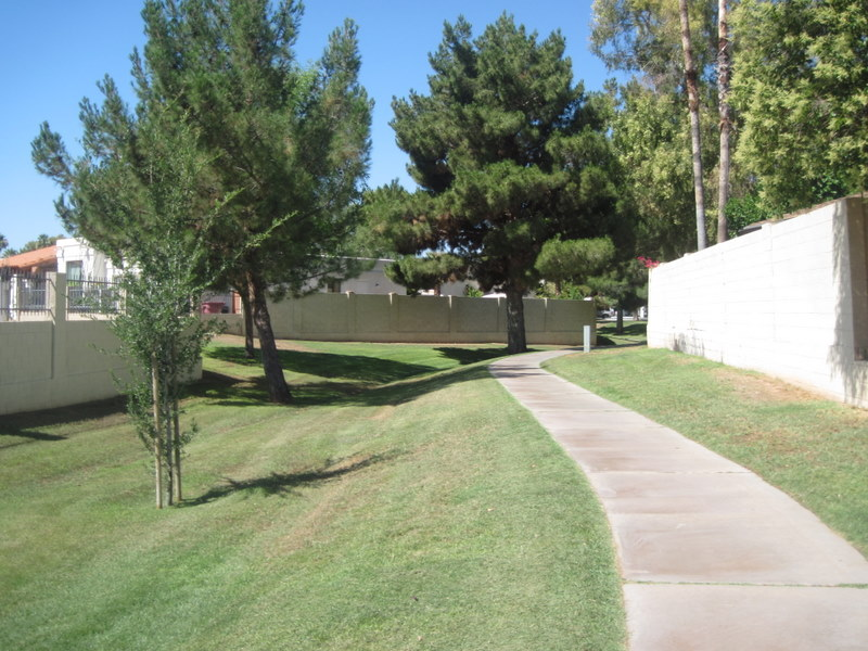 Walking Path Along the Estate Los Arboles Subdivision