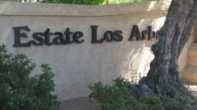 Entrance to Estate Los Arboles